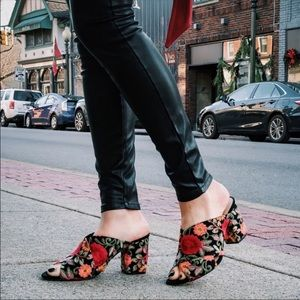 Sole Society Criss Criss Floral Mule Heel Size 8.5